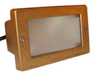 Brass Plain Front Brick Light