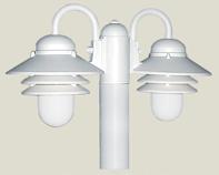Duel Lexacast Pole Lights