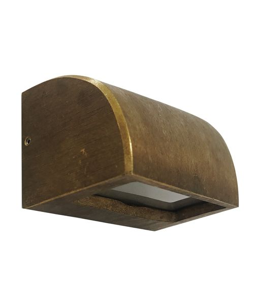 Lge Curved Solid Bronze Step Light