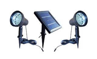 Solar Powered Twin Spot-lights